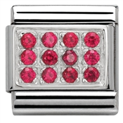 Nomination Red Cubic Zirconia Plate Charm
