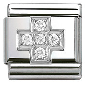 Nomination Cubic Zirconia Cross Charm