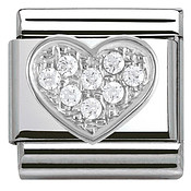 Nomination Cubic Zirconia Heart Charm