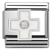 Nomination White Cross Charm