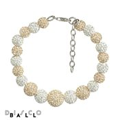 Disco Ball Full Champagne & White Crystal Bracelet