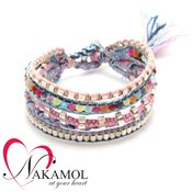 Nakamol Design Pastel Plaited Friendship Bracelet
