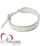 Nakamol Design Clear Crystal Friendship Bracelet