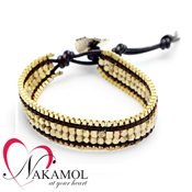 Nakamol Design Gold Tone Friendship Bracelet