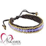Nakamol Design Lavender Quartz Friendship Bracelet