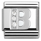 Cubic Zirconia B Charm by Nomination