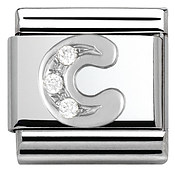 Cubic Zirconia C Charm by Nomination