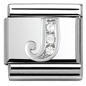 Cubic Zirconia J Charm by Nomination