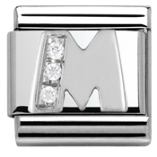 Cubic Zirconia M Charm by Nomination