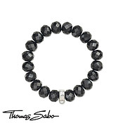 Obsidian Charm Carrier Bracelet by Thomas Sabo