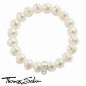 Pearl Charm Carrier Bracelet by Thomas Sabo