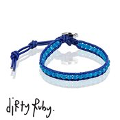 Dirty Ruby Blue Jade Leather Bracelet