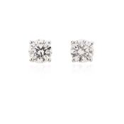 Argento 5.5mm Cubic Zirconia Stud Earrings