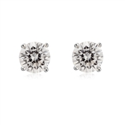 Argento 6mm Cubic Zirconia Stud Earrings