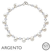 Pearl Crystal Bracelet by Argento