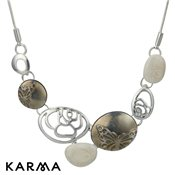 Karma Grey Multi Pebble Necklace