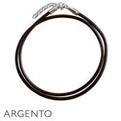 Argento Brown Leather Necklace