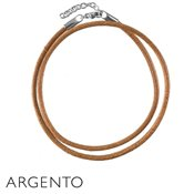 Argento Natural Brown Leather Necklace