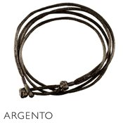 Argento Brown Chinese Knot Necklace