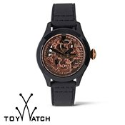 ToyWatch Toy2Fly Skeleton Black & Pink Gold