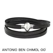 Antonio Ben Chimol Dark Grey Rainbow Bracelet