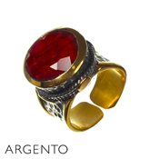 Argento Ruby Corundum Ring