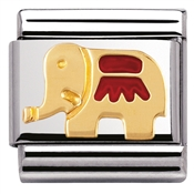 Nomination Red Elephant Charm