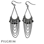 PILGRIM Hematite Grey Earrings