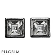 PILGRIM Hematite Crystal Stud Earrings