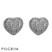 PILGRIM Dazzle Heart Earrings