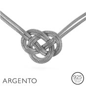 Argento Silver Knot Necklace