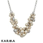 Karma Cream Cluster Pearl Necklace