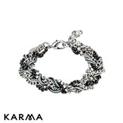 Karma Grey Plaited Bracelet