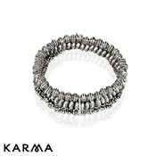 Karma Antique Silver Bracelet