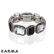 Karma Black And Crystal Bracelet