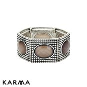 Karma Grey Faceted Stretch Bracelet