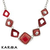 Karma Pink Square Necklace