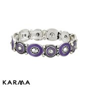 Karma Purple Enamel Disc Bracelet