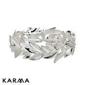 Karma White Leaves Bracelet