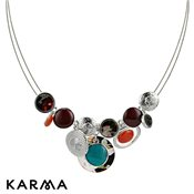 Karma Multi-Coloured Pebble Necklace