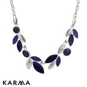 Karma Purple Cat's Eye Bead Necklace