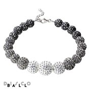 Disco Ball Full Grey Mix Crystal Bracelet