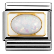 Nomination Elegance White Opal Link