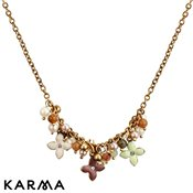 Karma Darling Buds Gold Flower Beaded Necklace