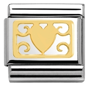 Nomination Heart and Deco Plaque Charm