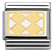 Nomination White Enamel Rhombus Charm