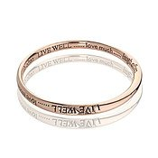 Affirmations Rose Gold Live Bangle