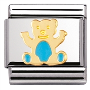 Nomination  Light Blue Teddy Charm