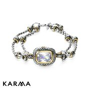 Karma Antique Crystal Bracelet
