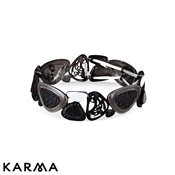 Karma Black Disc Stretch Bracelet
